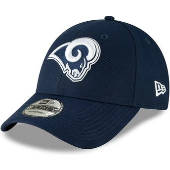 Casquette courbée bleue ajustable 9FORTY The League Los Angeles Rams NFL New Era