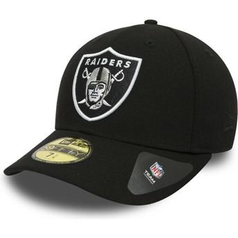 Casquette plate noire ajustée 59FIFTY Low Profile Classic Oakland Raiders NFL New Era