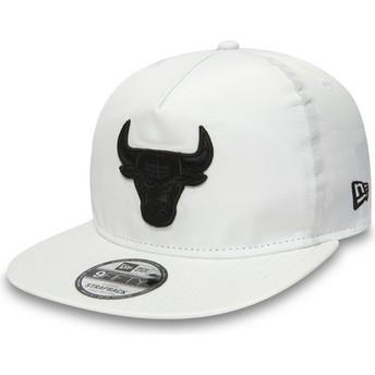 Casquette plate blanche snapback pour enfant 9FIFTY A Frame Premium Sport Chicago Bulls NBA New Era