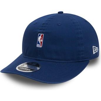 Casquette plate bleue snapback pour enfant 9FIFTY Low Profile NBA Logo New Era