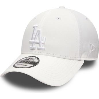 Casquette courbée blanche ajustable avec logo blanc 9FORTY Nano Ripstop Los Angeles Dodgers MLB New Era