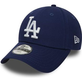 Casquette courbée bleue ajustable pour enfant 9FORTY Essential Los Angeles Dodgers MLB New Era