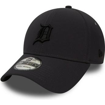 Casquette courbée noire ajustée avec logo noir 39THIRTY Team Clean Detroit Tigers MLB New Era