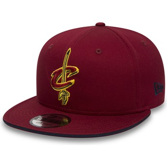 Casquette plate rouge snapback 9FIFTY Team Cleveland Cavaliers NBA New Era