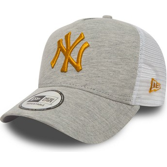 Casquette trucker grise avec logo jaune 9FORTY Essential Pull New York Yankees MLB New Era