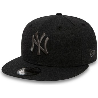 Casquette plate grise snapback avec logo grise 9FIFTY Essential Pull New York Yankees MLB New Era