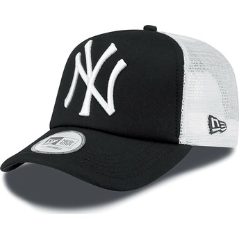 Casquette trucker noire Clean A Frame New York Yankees MLB New Era