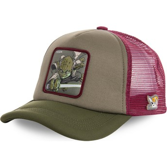 Casquette trucker verte et rouge Yoda YOD4M Star Wars Capslab