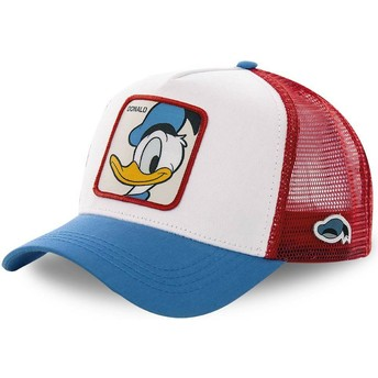 Casquette trucker blanche, rouge et bleue Donald Fauntleroy Duck DUC2 Disney Capslab
