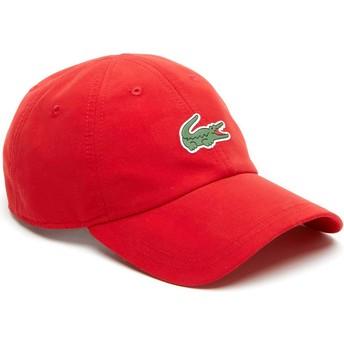 Casquette courbée rouge ajustable Croc Microfibre Lacoste