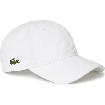 Casquette courbée blanche ajustable Basic Side Crocodile Lacoste