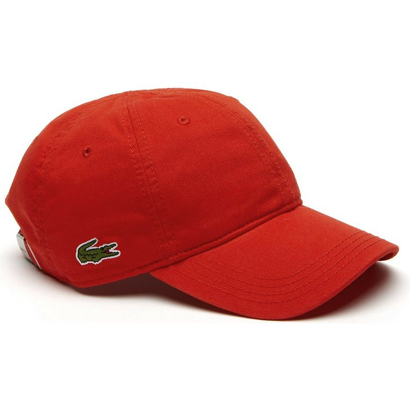 casquette-courbee-rouge-ajustable-basic-side-crocodile-lacoste