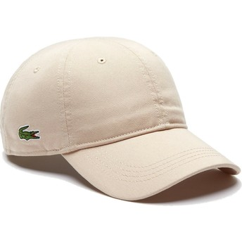 Casquette courbée beige ajustable Basic Side Crocodile Lacoste