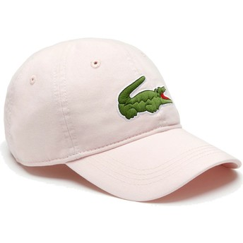 Casquette courbée rose claire ajustable Big Croc Gabardine Lacoste