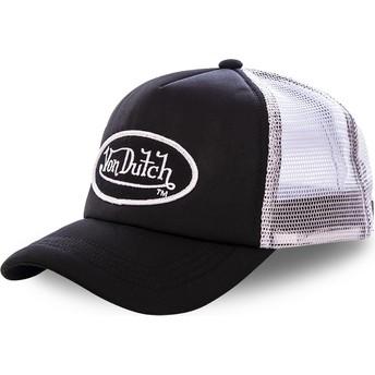 Casquette trucker noire et blanche FAO BLA Von Dutch