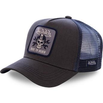 Casquette trucker noire et bleue GRN4 Von Dutch