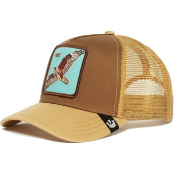 Casquette trucker marron faucon High Goorin Bros.
