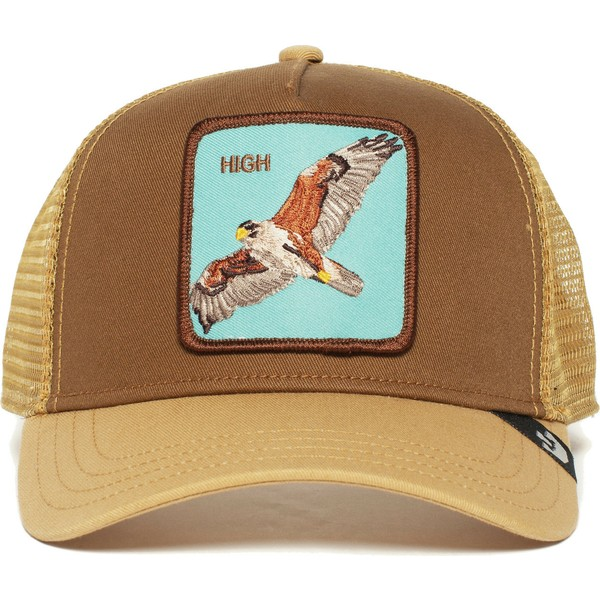 casquette-trucker-marron-faucon-high-goorin-bros