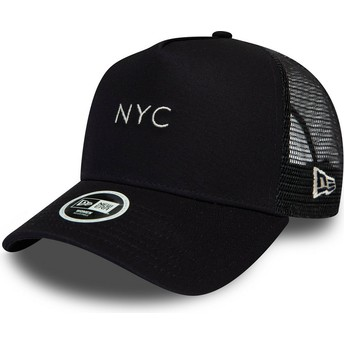 Casquette trucker bleue marine 9FORTY Seasonal NYC New Era