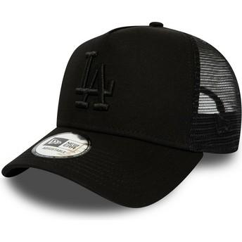 Casquette trucker noire avec logo noir League Essential A Frame Los Angeles Dodgers MLB New Era