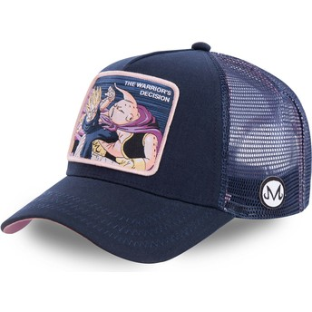 Casquette trucker bleue marine Vegeta Vs Buu Warrior's Decision FIN1 Dragon Ball Capslab