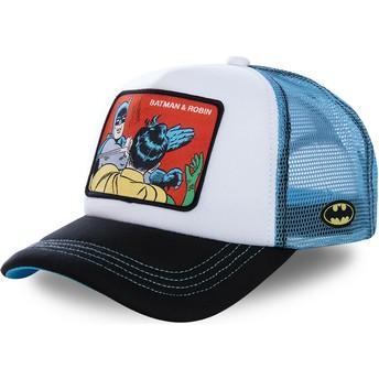 Casquette trucker blanche et bleue Batman & Robin MEM4 DC Comics Capslab