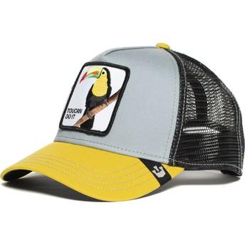 Casquette trucker grise et jaune toucan Iggy Narnar Goorin Bros.