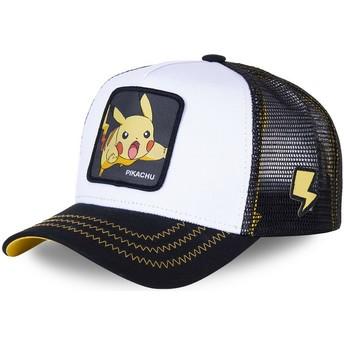 Casquette trucker blanche et noire Pikachu PIK5 Pokémon Capslab