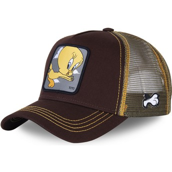 Casquette trucker marron Titi TIT1 Looney Tunes Capslab