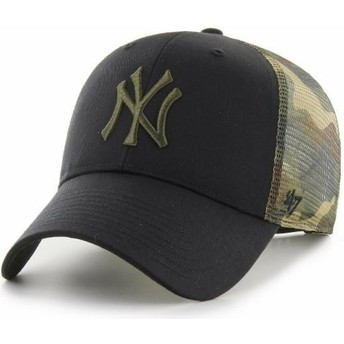 Casquette trucker noire et camouflage MVP Back Switch New York Yankees MLB 47 Brand