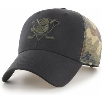 Casquette trucker noire et camouflage MVP Back Switch Anaheim Ducks NHL 47 Brand