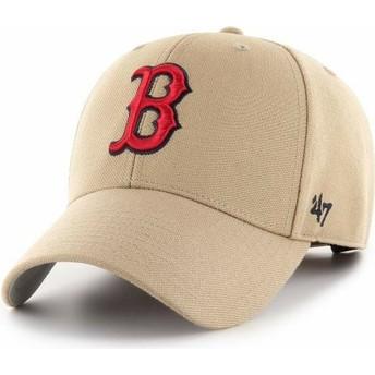 Casquette courbée khaki ajustable MVP Boston Red Sox MLB 47 Brand