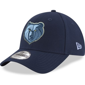 Casquette courbée bleue ajustable 9FORTY The League Memphis Grizzlies NBA New Era