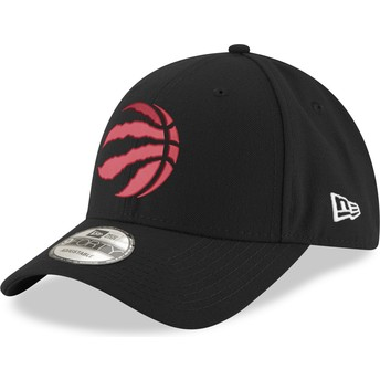 Casquette courbée noire ajustable avec logo rouge 9FORTY The League Toronto Raptors NBA New Era