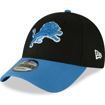 Casquette courbée noire ajustable 9FORTY The League Detroit Lions NFL New Era