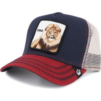 Casquette trucker bleue marine lion Big Rock Goorin Bros.