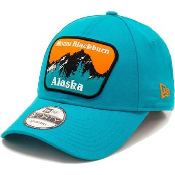 Casquette courbée bleue ajustable 9FORTY USA Patch Alaska Mount Blackburn New Era