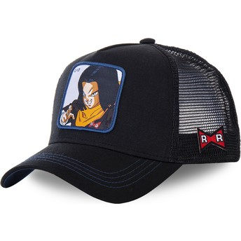 Casquette trucker noire Android C-17 C17B Dragon Ball Capslab