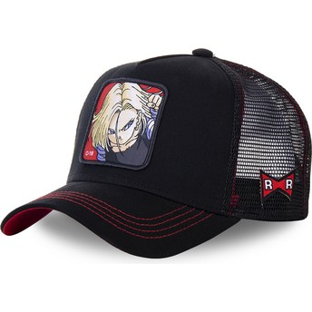 Casquette trucker noire Android C-18 C18B Dragon Ball Capslab