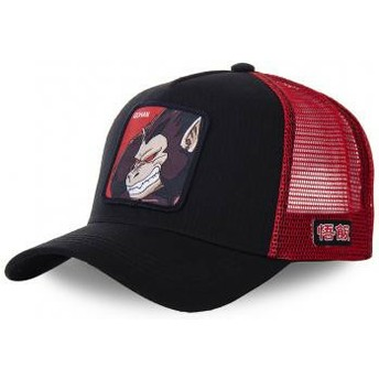Casquette trucker noire et rouge Saiyan Great Ape SAI Dragon Ball Capslab