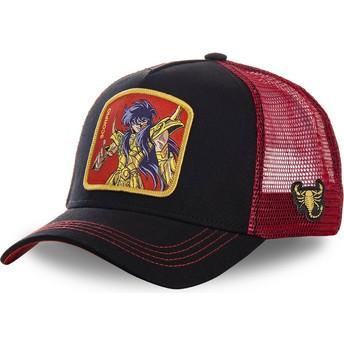 Casquette trucker noire et rouge Scorpion SCO Saint Seiya: Les Chevaliers du Zodiaque Capslab