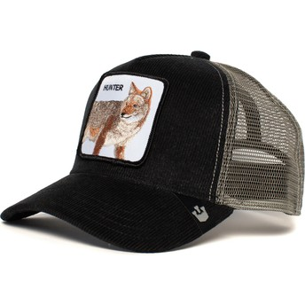 Casquette trucker noire et grise loup Hunter In The Woods Goorin Bros.