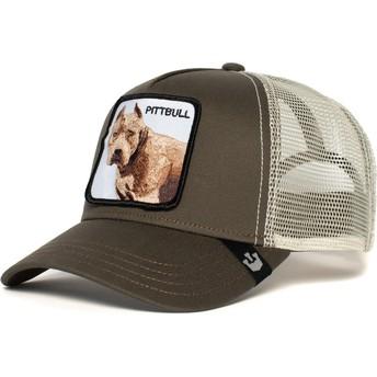 Casquette trucker grise chien Pitbull Goorin Bros.