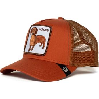 Casquette trucker marron chien teckel Weiner Dawg Goorin Bros.