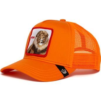 Casquette trucker orange lion Strong King Goorin Bros.