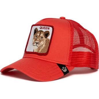 Casquette trucker rouge lionne Strong Queen Goorin Bros.