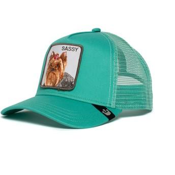 Casquette trucker verte chien Yorkshire terrier Sassy Lady Goorin Bros.