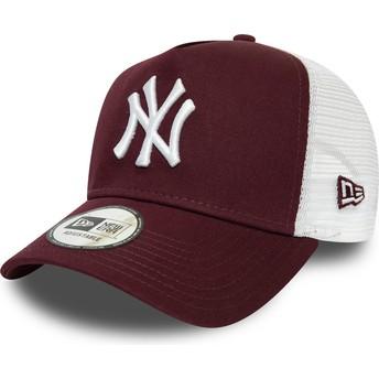 Casquette trucker grenat et blanche Essential A Frame New York Yankees MLB New Era