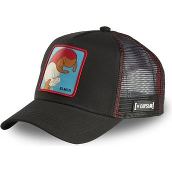 Casquette trucker noire Elmer Fudd ELM2 Looney Tunes Capslab
