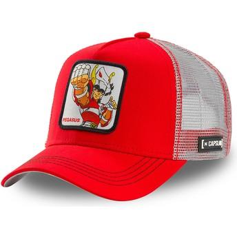 Casquette trucker rouge et blanche Pégase Seiya PEG1 Saint Seiya: Les Chevaliers du Zodiaque Capslab